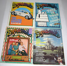 Lot of 4 Dynamite Magazine 1970's Snoopy Love Bug All In The Family Disney World