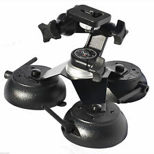 Car Camera Suction Cup Mount Three Vacuum Base Action Camera Holder  VacMounts