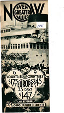 """Allen Tours Europe """"Travel and Really Live"""" Vintage Cruise Booklet"""