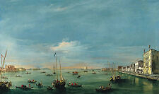 View of the Giudecca Canal and the Zattere Guardi Venedig Gondeln B A3 01801
