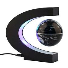 Night Table Lamp Magnetic Light Levitation Floating Globe LED World Map C Shape