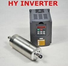 CNC 80MM HY 1.5KW ER11 WATER-COOLED SPINDLE MOTOR & DRIVE INVERTER VFD