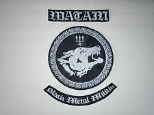 Watain Back Patch Dissection Satanic Warmaster Nargaroth Mayhem Satyricon Absu