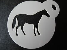 Laser cut small horse design cake, cookie,craft & face painting stencil
