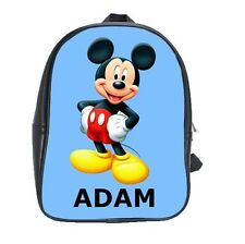 MICKEY MOUSE Personalized School childrens kindy CUSTOMIZED Bag Backpack