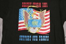 Vintage 1991 Operation Desert Storm XL T-Shirt Made in USA Support Our Troops