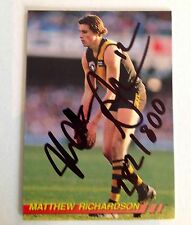 1994 SELECT AFL CARD PERSONALLY SIGNED BY  RICHMOND CHAMPION MATTHEW RICHARDSON