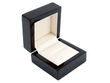 Luxury Wooden Ring Box, High Gloss Piano Black (Gift, Presentation, Storage)