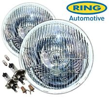 "Ring Automotive 7"" Flat Lens Classic Car Sealed Beam Halogen H4 Conversion Pair"