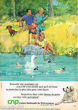 PUBLICITE ADVERTISING 065  1968   CNP assurance-vie CAISE NATIONALE DE PREVOYANC