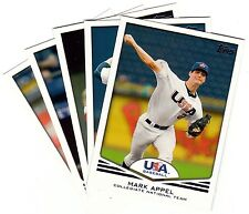 2011 Topps Team USA Baseball Complete 61 Card Set Appel Wacha Gallo Russell +