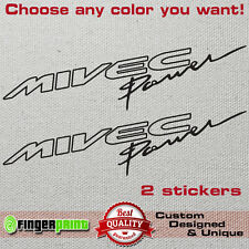 MIVEC POWER vinyl decal sticker mitsubishi ralliart evolution colt evo fq lancer
