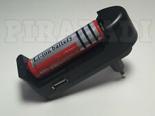 * RARE * 1 PILE ACCU BATTERIE RECHARGEABLE 18650 3.7V 4200Mah + CHARGEUR