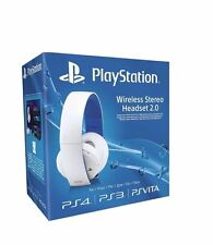 Officiel Sony PlayStation PS4 PS3 PSVita Sans fil 7.1 Stéréo Casque 2.0 (Blanc)