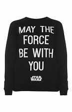 PRIMARK OFFICIAL ADULT STAR WARS MAY THE FORCE BE WITH YOU JUMPER SWEAT BNWT 14