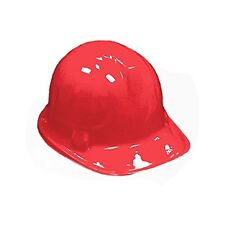 12 Pack Kid's RED Plastic Construction Hard Hat Party Costume Accessories