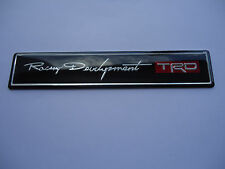 CAR TRD FENDER TRUNK EMBLEM BADGE TOYOTA LEXUS BLACK