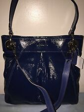 Coach Ashley Cobalt Blue Patent Hippie Crossbody Purse