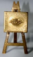 ANTIQUE c1880 ~~W. Avery & Son Redditch~~FLORAL EASEL Victorian NEEDLE CASE