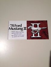1974 FORD MUSTANG II SALES BROCHURE, ORIGINAL ITEM NOT A REPRINT