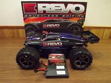 NEW TRAXXAS E-Revo Brushless W/ (2) 40C Lipos  4x4 Truck *WE SHIP INTERNATIONAL*