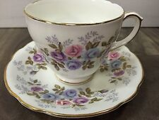 Duchess Bone China England Tea Cup & Saucer Roses Floral Gold Trim