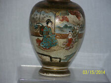 Japanese Meiji Period c1875-1895 Satsuma Kinkozan Signed Oil Lamp