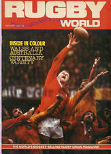 RUGBY WORLD MAGAZINE JANUARY 1982 - PERFECT GIFT FOR A FAN BORN IN THIS MONTH