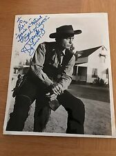 DeForest Kelley RARE signed cowboy photo black and white 10 x 8 autograph