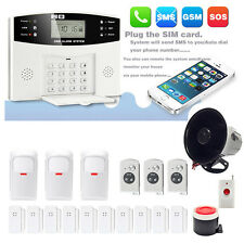Wireless Home and Business Auto Dial Outdoor Siren Security Alarm System Kit US