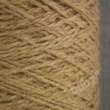 BERBER RUG MAKING WOOL BISCUIT 400g CONE LATCH HOOK CARPET WEAVE YARN BROWN BB28