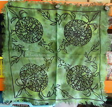 GREEN MAN ALTAR TAROT CLOTH SCARF 500 x 500 mm  Wicca Pagan Witch Goddess