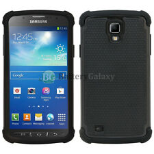 Hybrid Rugged Rubber Hard Case Cover for Samsung Galaxy S4 S 4 GS4 Active Black