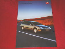 CITROEN C5 Kombi X SX Exclusive Prospekt + Preisliste von 2001