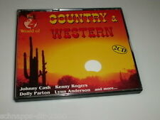 THE WORLD OF COUNTRY & WESTERN 2 CD'S MIT JOHNNY CASH DOLLY PARTON LYNN ANDERSON