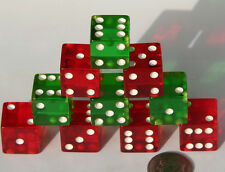"""Vintage Bakelite DICE Set 5/8"""" Unused NOS Made in USA RARE in this condition ·NR"""