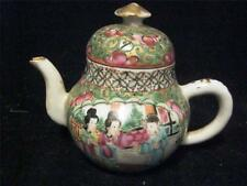 Chinese Teapot Famille Rose Enamelled with Flowers and Birds