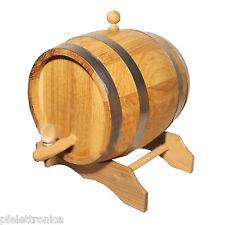 Botte per vino 3 Lt in rovere naturale portavino con rubinetto in legno
