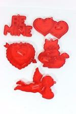 Vintage Red Valentines Hearts & Other Cookie Cutters-GREAT BAKING FUN!