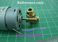 Motor Output Copper Worm Wheel Rad Gear 0.5 Modulus Reduction Ratio of 1:10 DIY