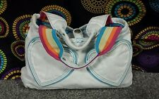 Old Navy Multi-Color Cotton Handbag w/Heart Pockets & Rainbow Straps