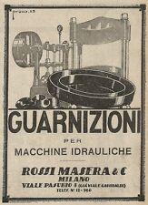 Z2014 Rossi Masera - Guarnizioni per macchine idrauliche - Pubblicità d'epoca