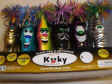 Kooky Klickers pens & Key chain KREW 29,  Collectible Trading pens 6 assorted
