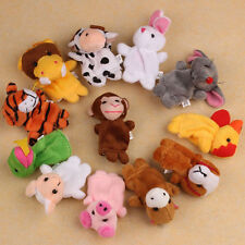 12X Farm Zoo Animal Finger Puppets Toys Boys Girls Babys Party Bag Filler Useful