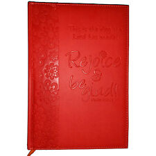 NWT Red/Orange Immitation Leather Rejoice & Be Glad! Journal