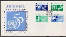 GB - JERSEY 1995 50th Anniversary of United nations 1945 - 95 SG 723/6 FDC BIRDS