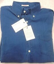 Gant Rugger 100% Cotton Indigo Waffle Sport Shirt Light Blue NWT Medium $125