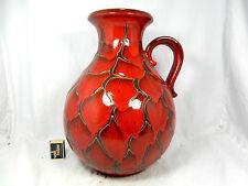 70´s design Scheurich Keramik Vase seltene Schuppen Glasur scale glaze 495 - 38