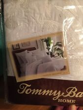 TOMMY BAHAMA DUVET FULL QUEEN TROPICAL HIDEAWAY EMBROIDERED PALM TREE NEW White
