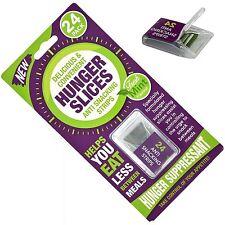 Confezione 24 fame FETTE strisce anti merendine dieta soppressore dell' appetito perdita di peso